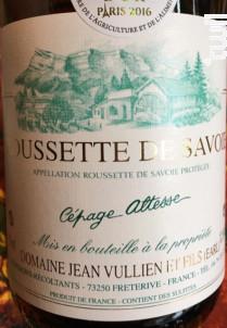 Roussette de Savoie Cépage Altesse - Domaine Jean VULLIEN & Fils - 2008 - Blanc