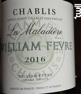 Chablis La Maladière - Domaine William Fevre - 2016 - Blanc