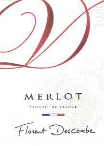 MERLOT - Vins Descombe - Non millésimé - Rouge