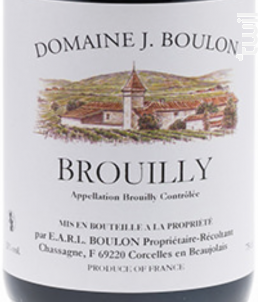 BROUILLY - Domaine J.boulon - 2015 - Rouge