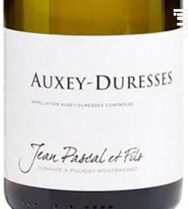 AUXEY DURESSES - Domaine Jean Pascal et Fils - 2017 - Blanc