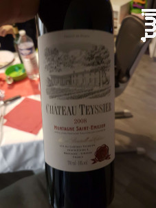 Château Teyssier - Château Teyssier - Montagne Saint-Emilion - 2008 - Rouge