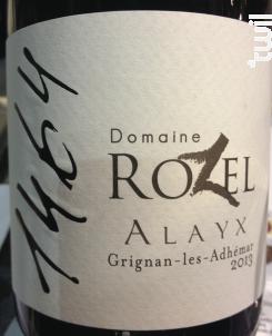 Alayx - Domaine Rozel - 2017 - Rouge