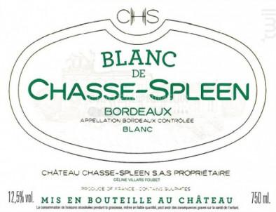 Blanc de Chasse-Spleen - Château Chasse-Spleen - 2018 - Blanc