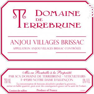 Anjou Villages Brissac - Domaine de Terrebrune - 2016 - Rouge