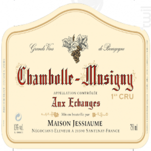 Chambolle-Musigny Premier Cru Aux Echanges - Domaine Jessiaume - 2011 - Rouge