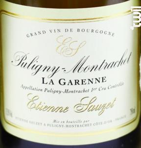 PULIGNY MONTRACHET LA GARENNE - Domaine Etienne Sauzet - 2015 - Blanc