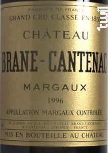 Château Brane Cantenac - Château Brane Cantenac - 1996 - Rouge