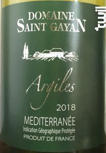 ARGILES - Domaine Saint Gayan - 2019 - Blanc