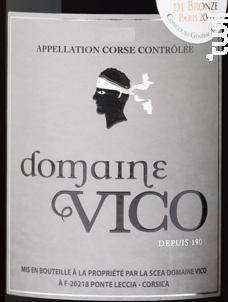 Domaine vico - Domaine Vico - 2016 - Rouge