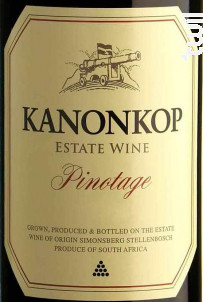 Pinotage - KANONKOP - 2008 - Rouge