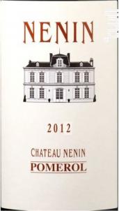 Château Nénin - Château Nénin - 2016 - Rouge