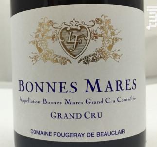 Bonnes Mares Grand Cru - Domaine Fougeray de Beauclair - 2013 - Rouge