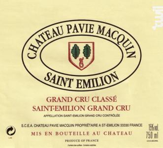 Château Pavie Macquin - Château Pavie Macquin - 2005 - Rouge