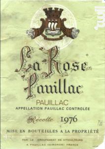 La Rose Pauillac - La Rose Pauillac - 1989 - Rouge