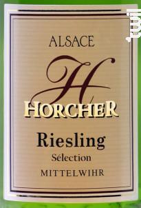 Riesling Sélection - Domaine Horcher - 2012 - Blanc