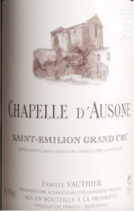 Chapelle d'Ausone - Château Ausone - 2017 - Rouge