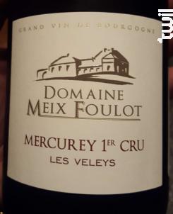Mercurey 1er Cru les Veleys - Domaine du Meix-Foulot - 2014 - Rouge
