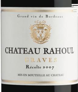 Château Rahoul - Vignobles Dourthe - Château Rahoul - 2007 - Rouge