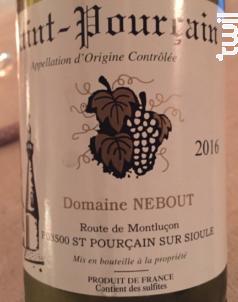 Saint Pourçain - Domaine Nebout - 2017 - Blanc