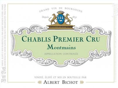 Chablis Premier Cru Montmains - Domaine Long-Depaquit - Domaines Albert Bichot - 2017 - Blanc