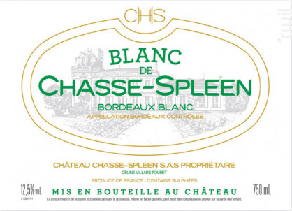 Blanc de Chasse-Spleen - Château Chasse-Spleen - 2015 - Blanc