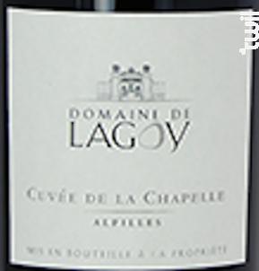 La Chapelle - Domaine de Lagoy - 2017 - Rouge