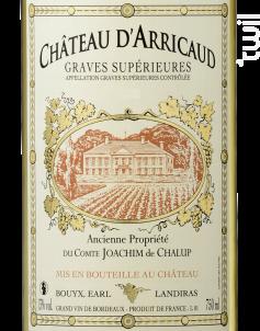 Graves Supérieures - Château d'Arricaud - 2012 - Blanc