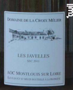 Montlouis-sur-Loire Sec Les Javelles - Domaine de la Croix Mélier - 2011 - Blanc
