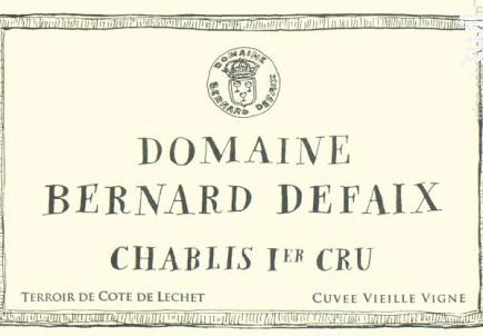 Chablis Premier Cru Côte de Léchet Cuvée Vielle Vigne - Domaine Bernard Defaix - 2018 - Blanc