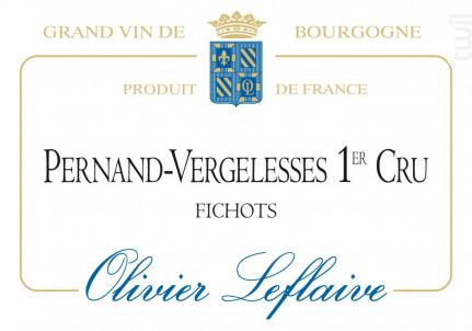 Pernand-Vergelesses Premier Cru Fichots - Maison Olivier Leflaive - 2014 - Rouge