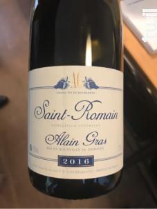 Saint-Romain - Domaine Alain Gras - 2016 - Blanc