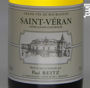 Saint Véran - Maison Paul Reitz - 2018 - Blanc