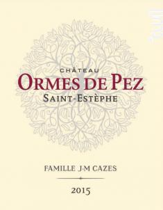 Château Ormes de Pez - Jean-Michel Cazes - Château Ormes de Pez - 2015 - Rouge