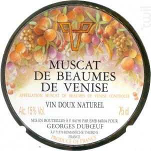 Muscat de Beaumes de Venise - Domaine Duboeuf - 2013 - Blanc