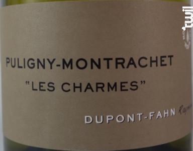 Puligny-Montrachet Premier Cru Les Charmes - Domaine Dupont-Fahn - 2018 - Blanc