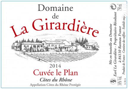 Cuvée le Plan - Domaine de la Girardière - 2016 - Rouge