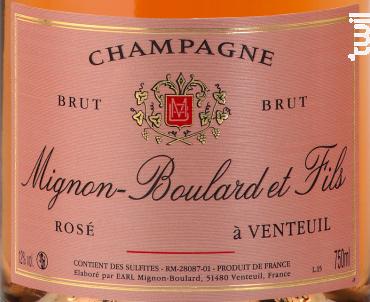 Brut Rosé - Champagne Mignon-Boulard et Fils - Non millésimé - Effervescent