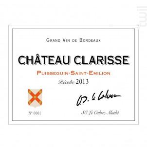 Château Clarisse - Château Clarisse - 2013 - Rouge