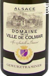 Gewurztraminer - Domaine Viticole de la ville de Colmar - 2016 - Blanc