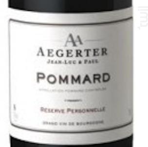 Pommard - Jean Luc et Paul Aegerter - 2015 - Rouge