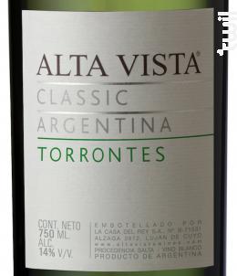 Alta Vista Torrontes Classic - Alta Vista - 2017 - Blanc