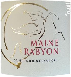 Maine Rabyon - Château La Renommée - 2016 - Rouge