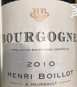 Bourgogne Pinot Noir - Maison Henri Boillot - 2017 - Rouge
