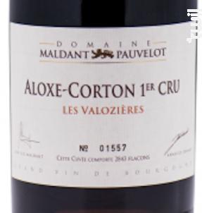 Aloxe-Corton Premier Cru « Les Valozières » - Domaine Maldant - Pauvelot - 2015 - Rouge