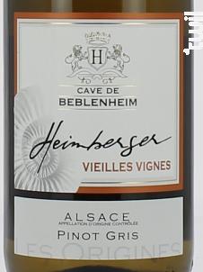 Pinot Gris Vieilles Vigne - Cave de Beblenheim - 2007 - Blanc