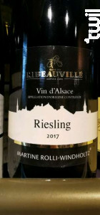 Riesling - Martine Rolli Windholtz - Cave de Ribeauvillé - 2017 - Blanc