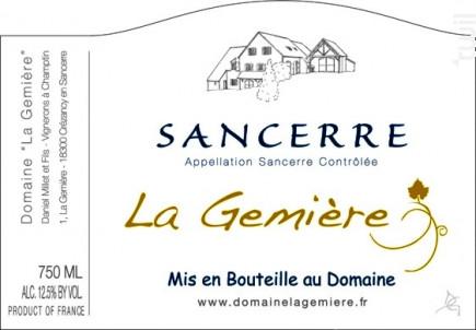 Sancerre - Domaine La Gemiere - 2017 - Blanc
