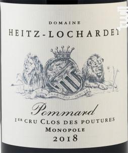 Pommard Premier Cru Clos des Poutures Monopole - Armand Heitz - 2018 - Rouge