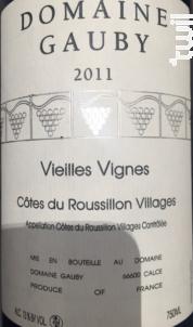 Vieilles Vignes - Domaine Gauby - 2015 - Rouge
